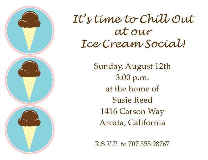Ice cream theme invitations 2