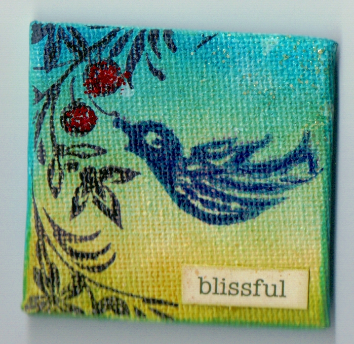 Blissful canvas magnet
