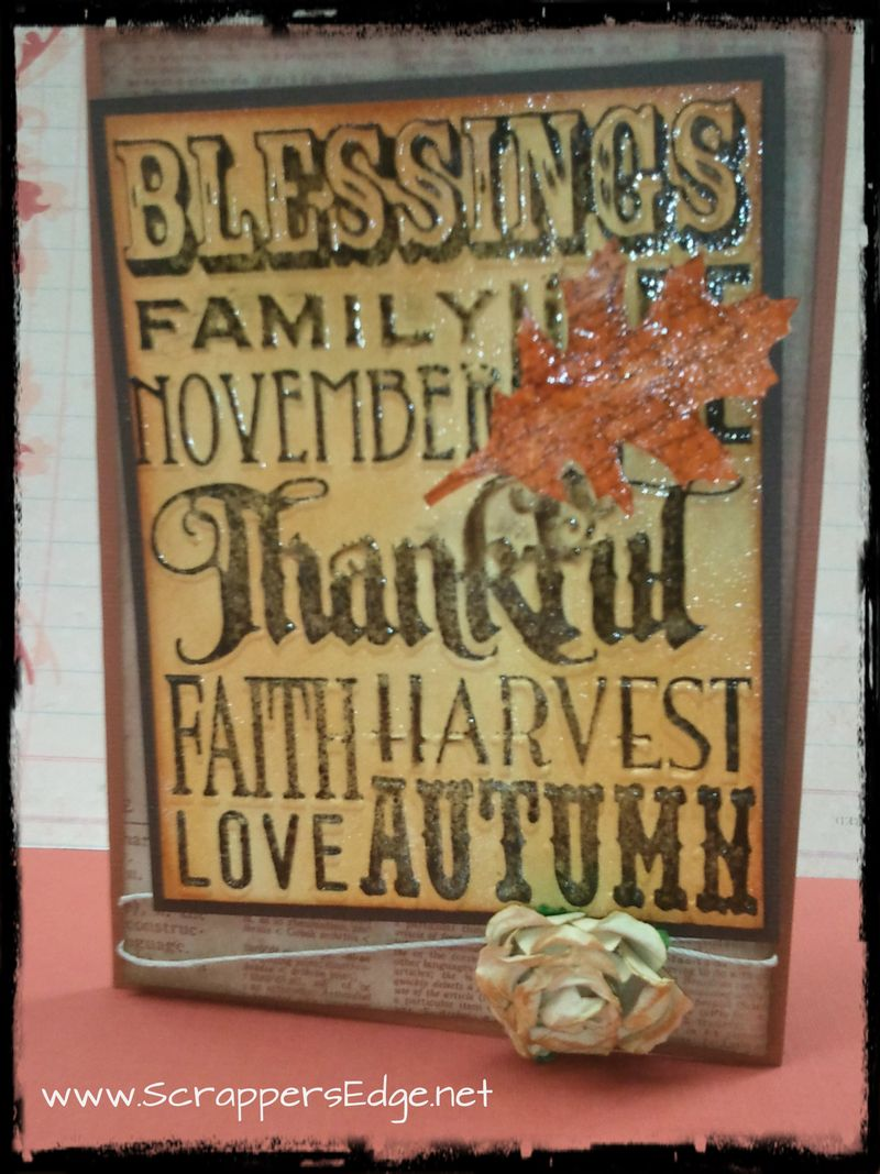 Fall card w border
