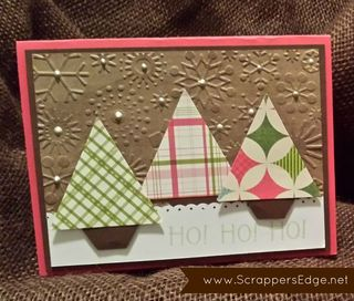 November 2013 Christmas Cardmaking Workshop TREE CARD