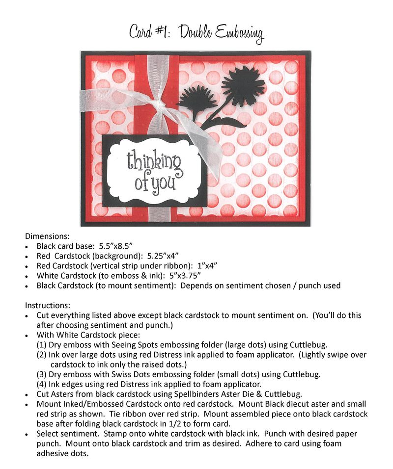 Cardmaking with Cuttlebug April 2014