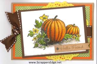 Copic pumpkin card