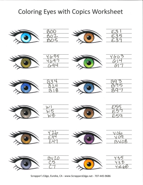 Copic eye chrt samples